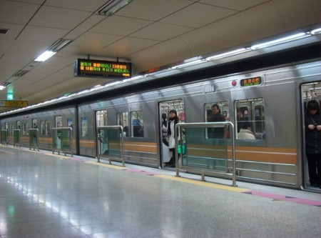 By Subway in Seoul